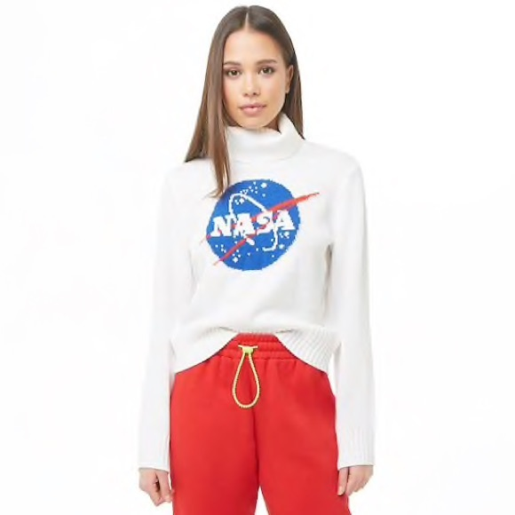 84f2a11ff3 NWT Forever 21 NASA Turtleneck Sweater